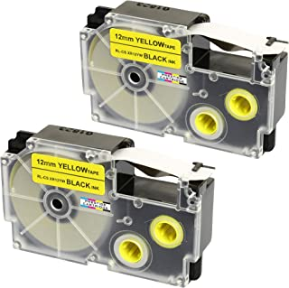5x Labelwell 12mm x8m 1//2 x 26.2 Compatibile XR-12WE XR-12RD XR-12BU XR-12YW XR-12GN Cassetta di etichette per Casio KL-60 KL-120 KL-820 KL-60SR KL-70e KL-100 KL-200 KL-300 CW-L300 Etichettatrice