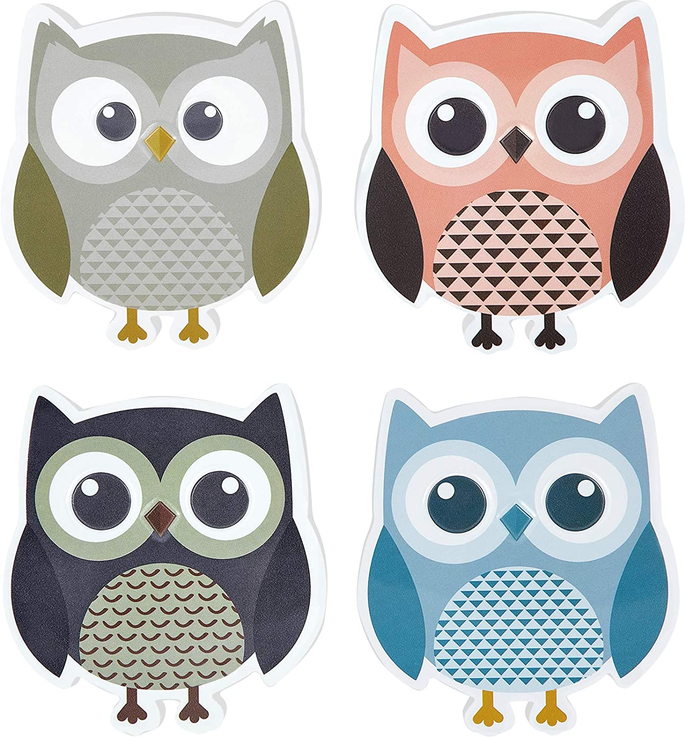 4 Pieces Cute Owl Erasers Eraser Animal Magnetic Whiteboard High Max 50% OFF quality new