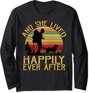 And She Lived Happily Ever After Camping Dog Mom LS Shirt