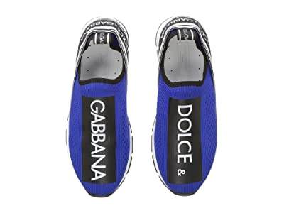 Dolce & Gabbana Kids Jersey Slip-On Sneaker (Little Kid/Big Kid) (Blue/Black) Kid