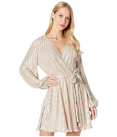 Bardot Belissa Pleat Dress (Champagne) Women