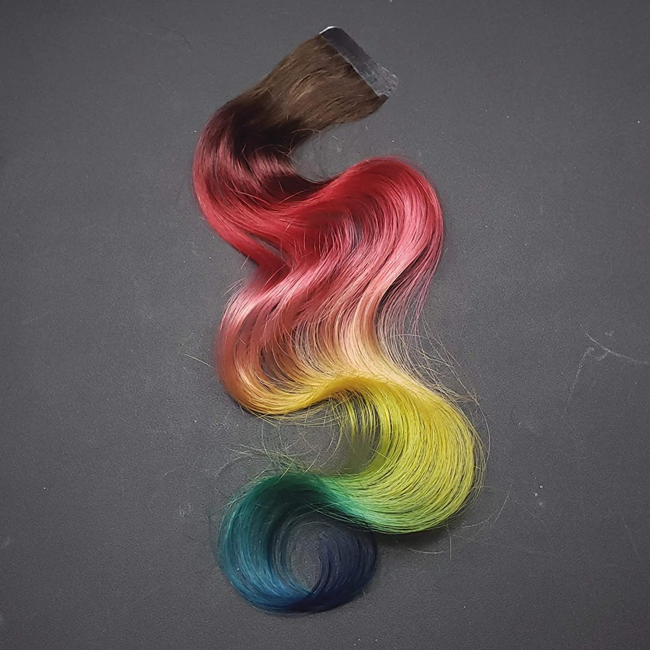 16 inch Sunset Rainbow Tape in Human Hair Extensions