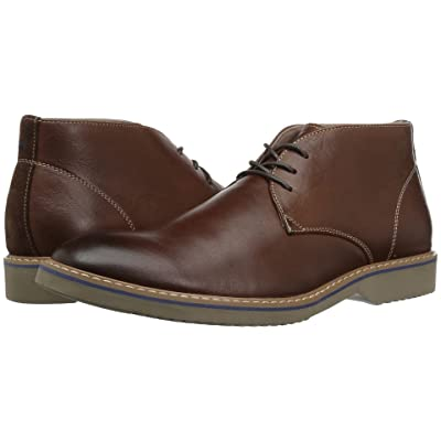 Florsheim Union Plain Toe Chukka Boot (Chocolate Leather/Suede) Men