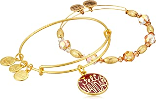 Alex and Ani Feliz Navidad Set of 2 Bangle Bracelet
