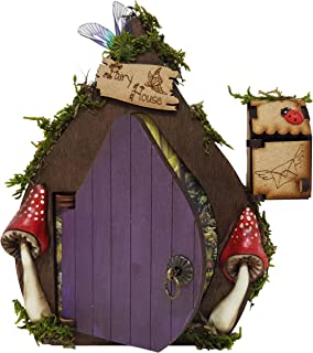 Fantasie-Fee-Tür aus violettem Holz