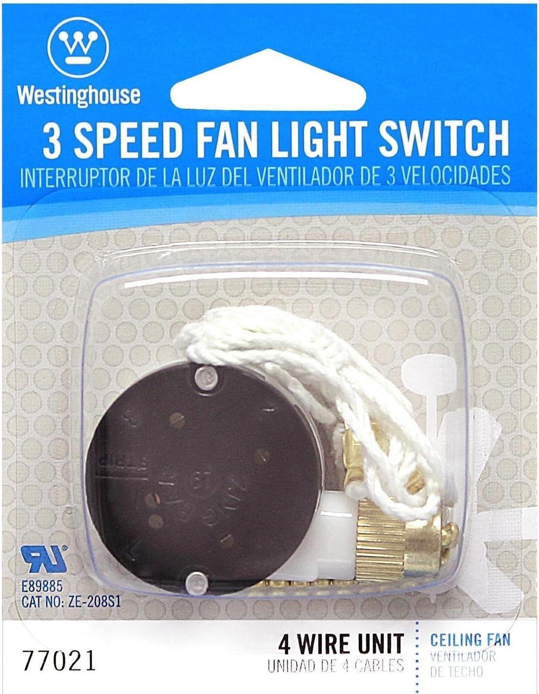 Westinghouse Lighting 7702100 3 Speed Fan Switch Hunter Ceiling Fan Parts Amazon Com
