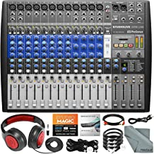 PreSonus StudioLive AR16 USB 18-Channel Hybrid Performance and Recording Mixer with Headphones and Cables Basic Bundle