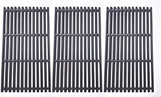 BBQration Matte Finished Cast Iron Cooking Grid for Select Charbroil Brand Gas Grill-griddles, Set of 3
