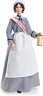 Barbie Inspiring Women Series Florence Nightingale Collectible Doll, Approx. 12-in, Wearing Nurse's Uniform, Apron and Cap with Doll Stand and Certificate of Authenticity