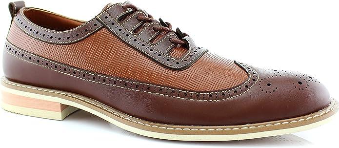 Mens Vintage Shoes, Boots | Retro Shoes & Boots Ferro Aldo Mens BrogueWingtipDerby Oxford  AT vintagedancer.com