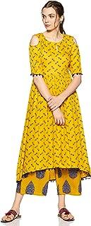 Libas Women's Rayon a-line Salwar Suit Set