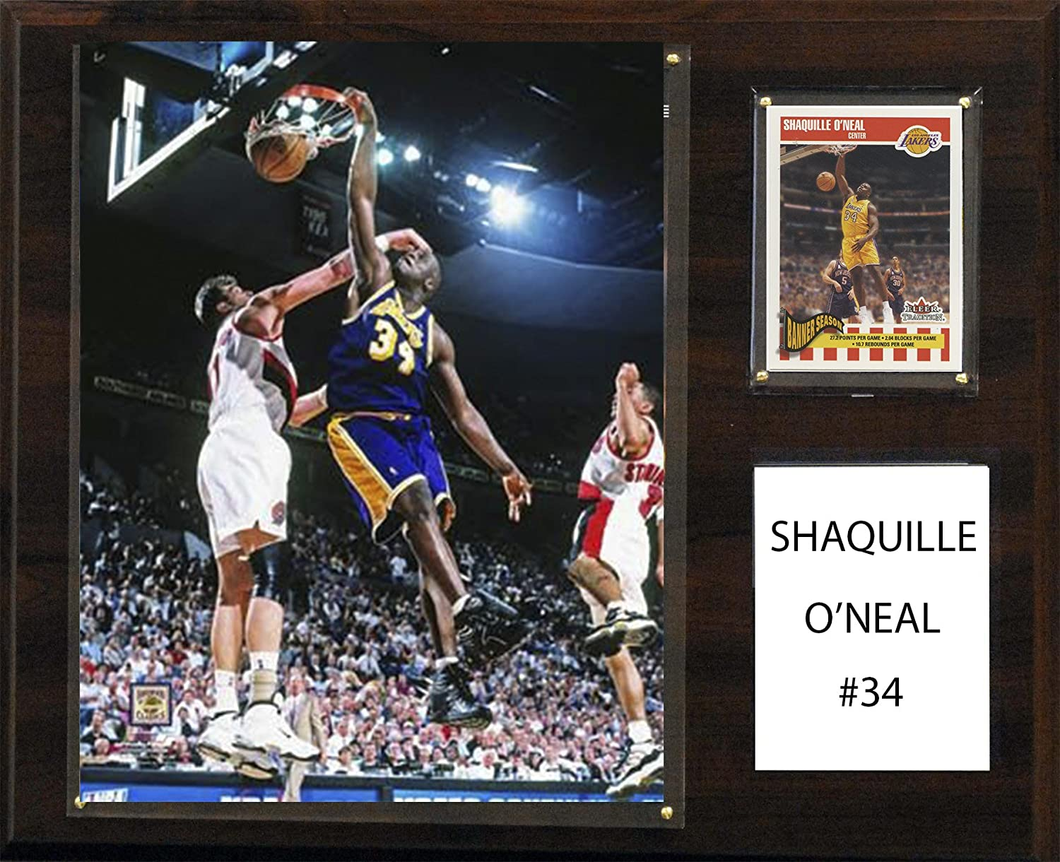 NBA Los Angeles Lakers Shaquille O'Neal Player Plaque, 12 x 15Inch