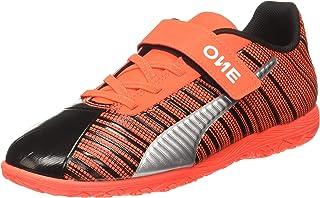 Puma Unisex Kid's One 5.4 It V Jr Black-nrgy Red Football Shoes