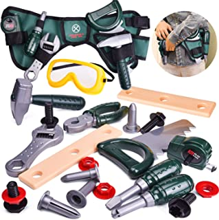 FUN LITTLE TOYS Kids Tool Set-23 Pieces, Including Pretend Play Construction Tool Accessories and a Reinforced Kids Tool Belt