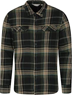 M/&S/&W Mens Western Plaid Long-Sleeves Casual Slim Flannel Button Down Tops 18 M