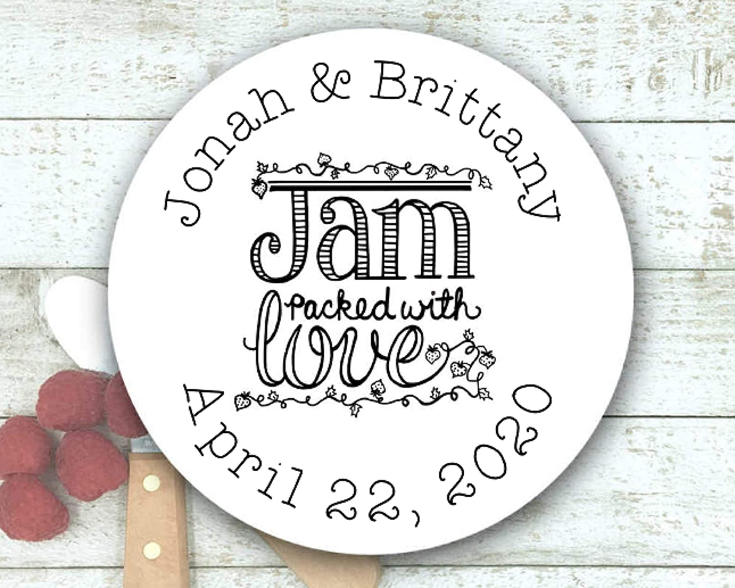 Luxury Jam Labels for Wedding Shower or Favors - Manufacturer regenerated product Personalize Party 20