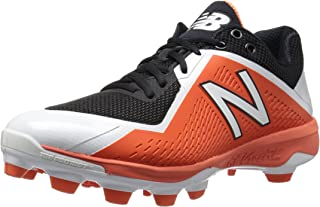 New Balance Men`s 4040 V4 TPU Molded Baseball Shoe, Black/Orange, 10.5 D US