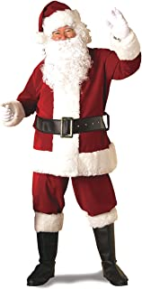 Rubie`s Adult Deluxe Ultra Velvet Santa Suit With Gloves