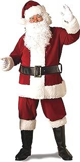 Adult Deluxe Ultra Velvet Santa Suit With Gloves