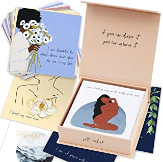 RYVE Affirmations Cards - 52 Positive Affirmations Cards for Women - Daily Affirmations for Women with Motivational Quote...