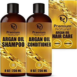 Argan Oil Shampoo and Conditioner Set - Sulfate Free All Natural Hair Repair Treatment, Clarifying Volumizing & Moisturizi...