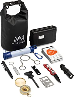 Mid Mab Survival Kit (12-Piece Set) Ultimate Tactical...