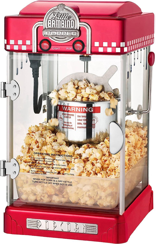 Little 5 popular Bambino Popcorn Machine - Fashioned 2. Maker Old Super sale period limited
