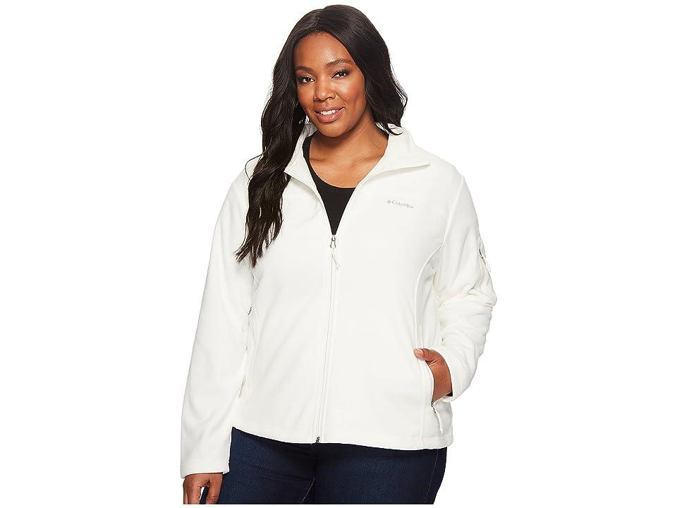 Columbia Plus Size Fast Trektm II Full Zip Fleece Jacket (Sea Salt) Women
