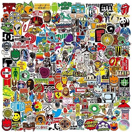 Ekkong Aufkleber 100 Stücke Anime Stickers Wasserdicht Vinyl Dekorative Decals Für Auto Motorräder Fahrrad Skateboard Snowboard Gepäck Laptop Macbook Pad C Style Auto
