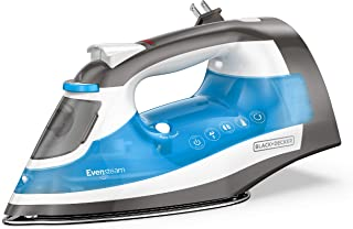 BLACK+DECKER ICR19XS One Step Steam Iron with Stainless Nonstick Soleplate and Cord Reel, Size, Grey