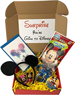 KKC Deluxe Surprise Mickey Vacation Gift for Boys with Park Accessories Including Ears and Autograph Book Red