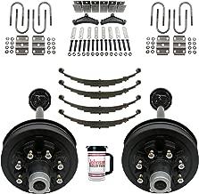 Rockwell American Tandem 7,000 lb Electric Brake Trailer Axle Kit w/Springs, Ubolts & Hanger Kit - 8 Lug 6.5