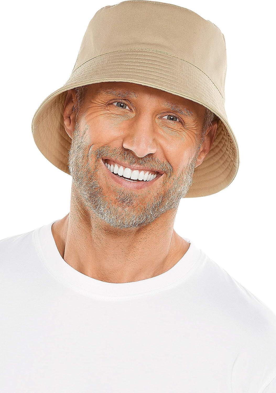 Coolibar UPF 50+ Men's Gavin Cotton Bucket Hat - Sun Protective