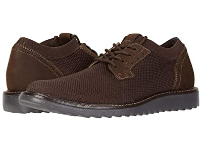 Dockers Einstein Knit/Leather Smart Series Dress Casual Oxford with NeverWet (Brown Knit/Nubuck) Men