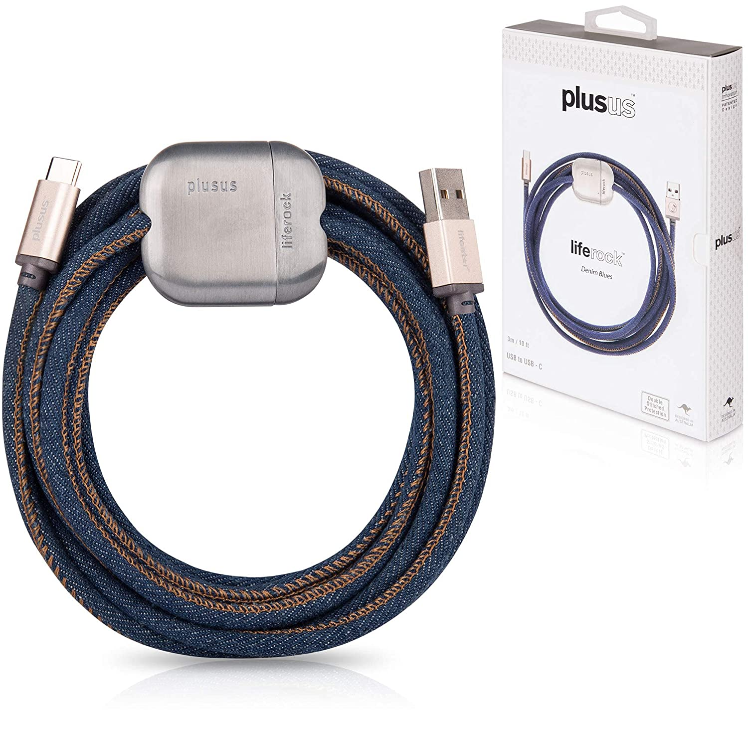 PlusUs LifeRock 10 New product!! ft 3m Extra Long Cable Super beauty product restock quality top USB to USB-C Handcra