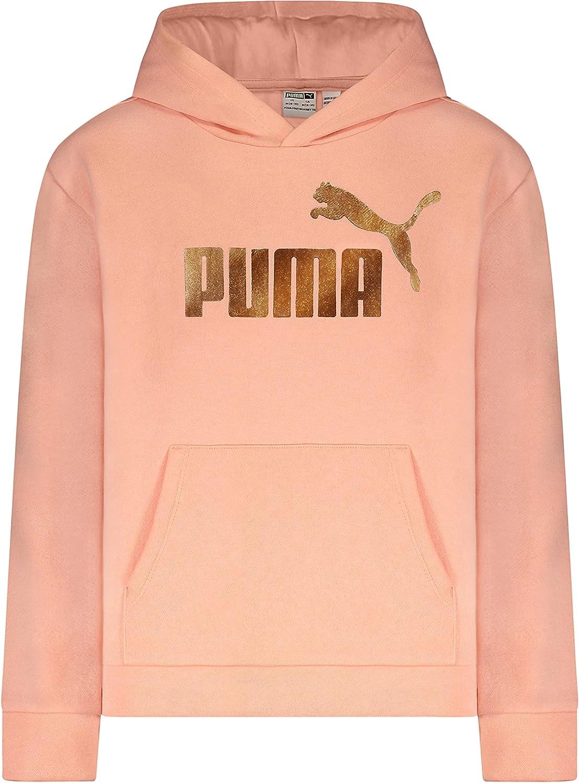 PUMA Girls' Fleece No. 1 Logo Pullover Hoodie
