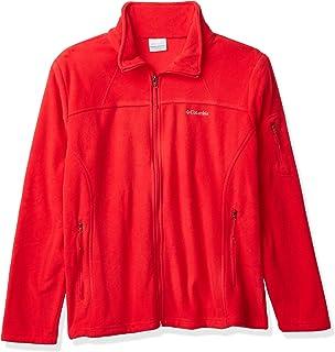Columbia Women's Full Zip Fleece Jacket, Fast Trek II, Dusty Crimson, XL