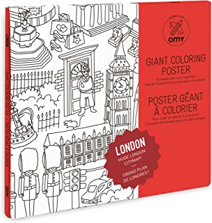 giant colouring poster london