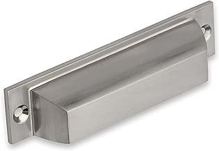 Southern Hills Brushed Nickel Cup Pulls - Pack of 5 - Craftsman Bin Pulls - Satin Nickel Finish - 4.5 Inch Total Length - SH014-SN-5