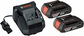 Bosch SKC181-02 18-Volt Lithium-Ion Starter Kit with (2) 2.0 Ah Batteries and Charger