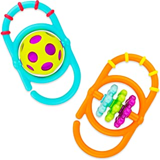 Sassy Linky Links Rattle Set, Use Apart or Link Together - 2 Pack, for Ages 3+ Months