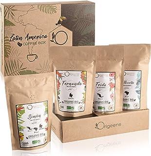 ☘️ CAFE GRAIN 1kg BIO | Café en Grain Arabica | Coffret café dégustation, Torréfaction Artisanale, 4x250g | Idée Cadeau