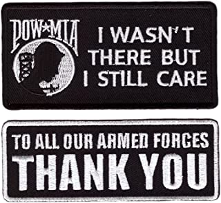 2pc Set Still Care to All Our Armed Forces Thank You Motorcycle MC Biker Vest Patch