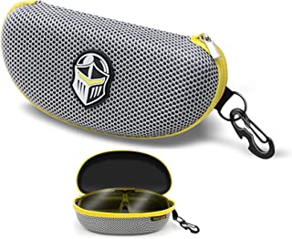 BLUPOND Semi Hard EVA Large Glasses Case - Metal Hanging Hook Set for Sports/Shooting Sunglasses