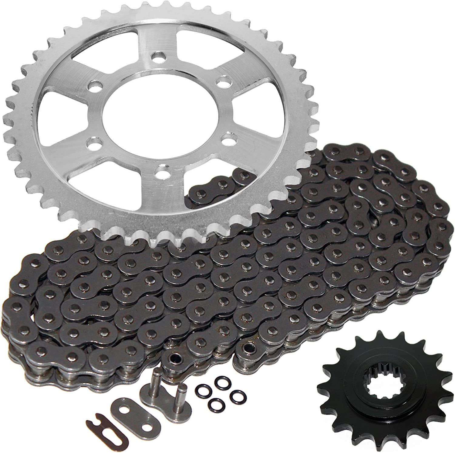 Caltric Steel O-Ring Drive Chain Kit Compatible Spasm price Milwaukee Mall with Sprockets