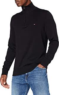 Tommy Hilfiger Organic Cotton Blend Zip Mock Sweater Homme