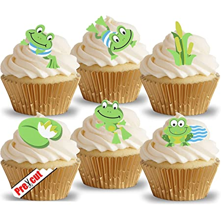 FROG PERSONALISED EDIBLE ICING BIRTHDAY CAKE TOPPER /& 8 ICING CUPCAKES