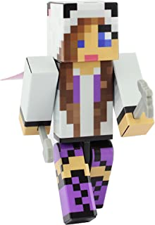 EnderToys Panda Girl Purple Action Figure Toy, 4 Inch Custom Series Figurines