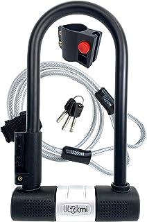 comprar comparacion Candado de Bicicleta U con Cable Candado de Antirrobo de Bici Super Fuerte Grillete de 14 mm y Cable de Seguridad de 10 mm...