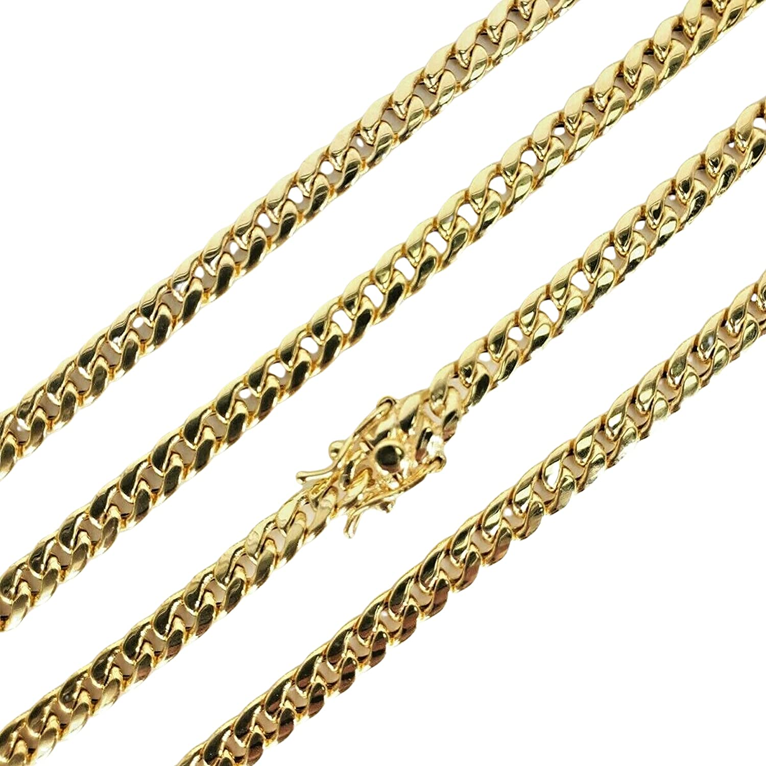 Panache 10K Genuine Yellow Gold All items free shipping Necklace C Miami Curb Cuban Quality inspection Link